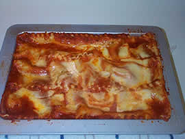 Delicious homemade lasagna is easy to make.